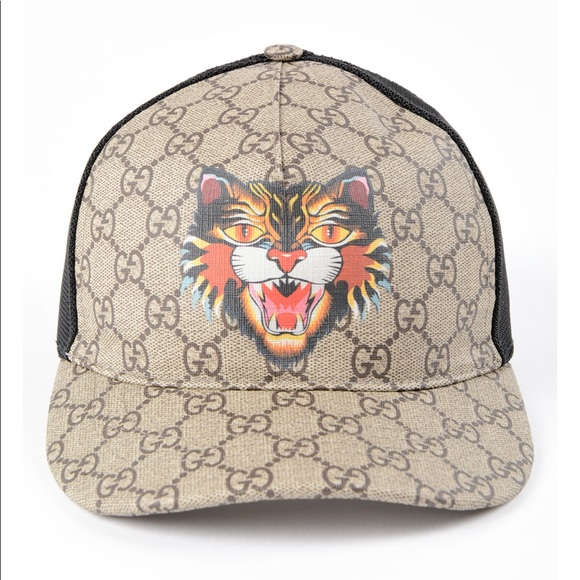 43d63740da5b90 Gucci Accessories | Baseball Hat Gg Supreme Angry Cat | Poshmark